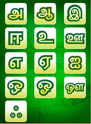 Tamil Uyir Ezhuthukal Words Picture and Video Vowels