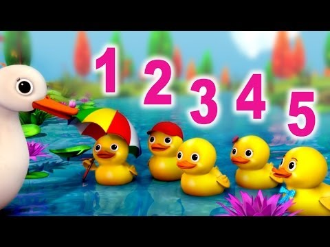 Five little ducks Went out one day