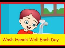 Wash hands well each day